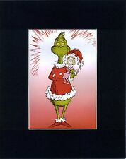 CINDY LOU WHO & MR. GRINCH~8 x 10  Mat Print ~WHOVILLE ~ Candy Cane~NEW