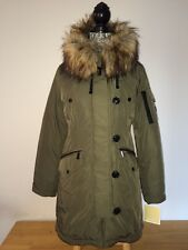 $330  MICHAEL KORS Olive Hooded Premium Heavy Dowh Fashion Winter  Jacket Coat L