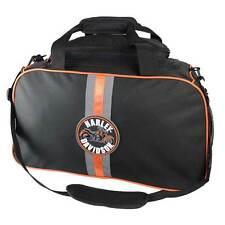 Harley-Davidson Deluxe Duffel Bag, Harley Emblem Reflective Stripe Black 7180651