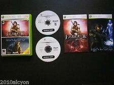 PACK 2 JEUX Microsoft XBOX 360 : FABLE II + HALO 3 (Bundle COMPLET envoi suivi)