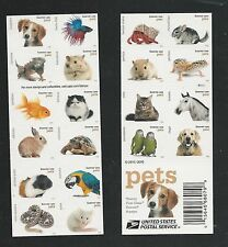 2016 Pets Complete Booklet with 20 Different Designs Mint