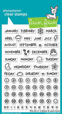 NEW Lawn Fawn Clear Stamps Plan On It: Calender