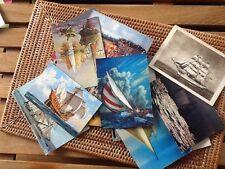 Vintage Lot 18 Cartes Postales Spécial bateaux Navire Années 70 Cpa.