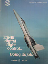 10/80 PUB GE GENERAL ELECTRIC US NAVY F/A-18 DIGITAL FLIGHT CONTROL ORIGINAL AD