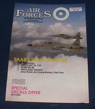 AIR FORCES INTERNATIONAL MAGAZINE JANUARY 1989 - SAAB J-35 DRAKEN