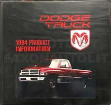 1994 Dodge Truck Upholstery Book Dealer Album Ram 1500 2500 3500 Pickup Van
