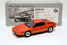 1:18 Minichamps bmw m1 coupé Orange Heritage Collection New en Premium-modelcar