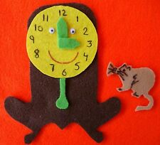 Hickory Dickory Dock Felt Flannel Board Story RhymeSong