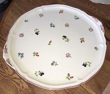 Villeroy & Boch Petite Fleur Floral 12 3/4 Serving Platter Cake Plate Porcelain