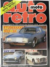 Revue AUTO RETRO moto magazine n° 56 - avril 1985 collection studebaker rover P5
