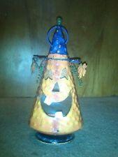 Pumpkin witch tea light candle holder Halloween Frankenstein wolfman vampire bat