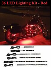 36 LED Motorcycle RED Neon UnderGlow Lights Kit For Harley Breakout CVO RoadKing