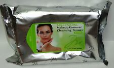 Skin Calming Makeup Remover Cleansing Tissues Sealed In Aluminum Pack 60 Sheets