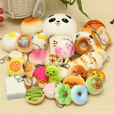 Lot 30 Kawaii Squishy Bun Rilakkuma Toast Donut Bread Scented Phone Strap Charm