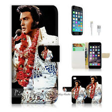 iPhone 7 PLUS (5.5') Flip Wallet Case Cover P0133 Elvis Presley