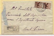 22.07.1945 Raccomandata da Magliano di Tenna per Ascoli Piceno