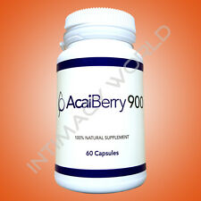 Acai Berry 900 Weight Loss Diet Supplement Fat Burner Slimming Pills 60 Capsules