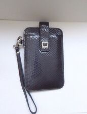 Lodis Snake Embossed Patent Leather Wristlet Smartphone Wallet Gray MSRP $69 NEW
