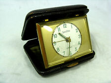 60´s Design  Reisewecker / travel alarm clock ZentRa working condition 147 Gr.