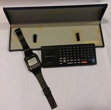 Orologio Vintage LCD Seiko UC 3000 DATA BANK+Docking Station UC 3100 MOLTO RARO