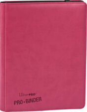 Ultra Pro PINK PREMIUM PRO-BINDER Padded Leatherette Sideloading 9-Pocket Album
