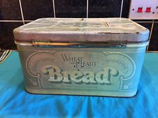 Vintage Original 1977 Hinged Tin Bread Box Wheat Heart Brand Bread Tin