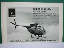 5/1969 PUB NARDI SA MILANO HUGHES OH-6A 500M 23 WORLD RECORDS ORIGINAL AD