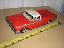 "Vintage Tin Friction Driven 1/18 ? 10"" 1950's Ford Ranchero Truck for parts"