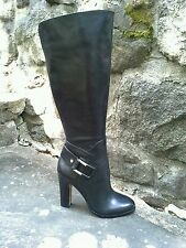 Vince Camuto Cheree Side Buckle High Heel Boot Leather Black Size 10/40  $229