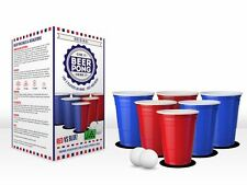 Original Beer Pong Kit Red vs Blue Party Game with Cups, Balls Stag Do Gift
