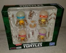 The Loyal Subjects Action Vinyls TMNT Radioactive Exclusive 4 Figure Set NIB