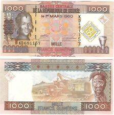 Guinea 1000 Francs 2010 P-43 Commemorative UNC Uncirculated Banknote