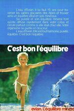 Publicité advertising 1983 Eau Minérale Evian