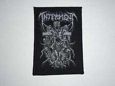 INTERMENT CRUCIFIXION DEATH METAL WOVEN PATCH