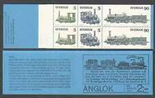 Sweden 1975 Trains/Steam Engines/Rail/Railways/Transport 6v bklt (n23443)
