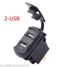 Waterproof 12V Rocker Push Switch Style Car Red LED Digital Voltmeter 2-USB Tool