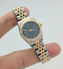 Rolex Oyster Perpetual No Date SS & 18KYG Ladies Watch 76193 **NO RESERVE**