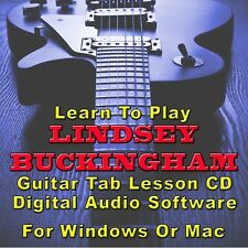 LINDSEY BUCKINGHAM Guitar Tab Lesson CD Software - 8 Songs