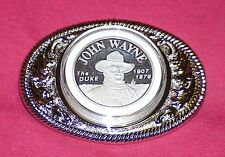 John Wayne The 'DUKE' Silver Medallion Belt Buckle SPECIAL SALE....