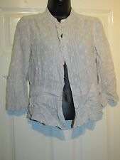 FRENCH CONNECTION LIGHT BEIGE BUTTONED TOP - UK Size 12