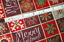 one yard of RED CHRISTMAS Cotton Fabric