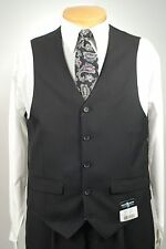 Steve Harvey Mens VEST -  Black Tone on Tone Dress Suit Vest - Size 3XL - V33
