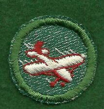 GIRL SCOUT BADGE - AVIATION - TRIMMED - LIGHT GREEN