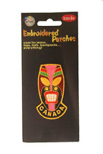 NATIVE MASK WITH WORD EMBROIDERED IRON-ON PATCH CREST BADGE .. NEW