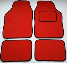 Red Car Mats Black Trim For Fiat 500 Bravo Grande Punto Evo Panda Stilo
