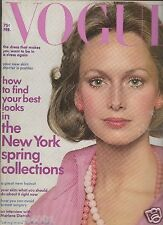 VOGUE US February 1973 Karen Graham Bianca Jagger Angelica Houston Liv Ullman