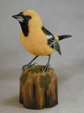 Life Size Hooded Oriole Original Bird Wood Carving