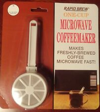 RAPID BREW ONE CUP COFFEE MAKER MICROWAVE 47-333 FAST n FRESH WHITE