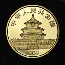 1989 China 25 Yuan Gold Panda Coin PROOF FREE SHIPPING E243 ENT