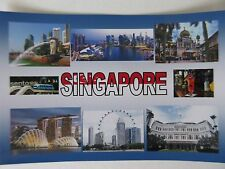 SINGAPORE - JUMBO FRIDGE MAGNET - Sentosa, Marina Bay, Orchard Road, Raffles